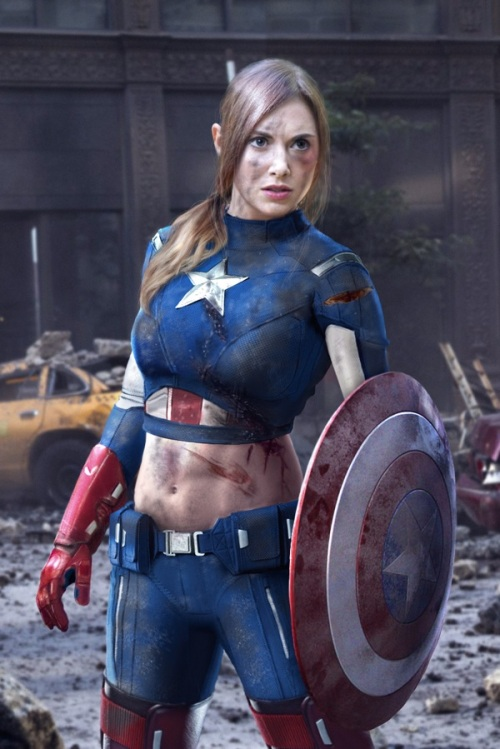 Lady Avenger - Captain America